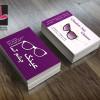 طرح لایه باز کارت ویزیت عینک