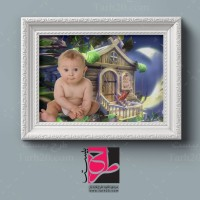 طرح فون عکاسی لایه باز کودک