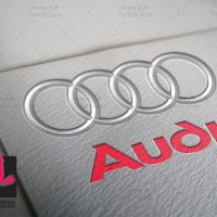 لایه باز طرح لوگو شرکت خودروسازی آئودی Audi