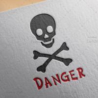 دانلود طرح لایه باز لوگو خطر یا علامت خطر