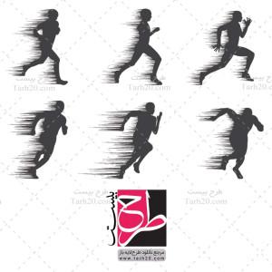 دانلود طرح لایه باز وکتور ورزشکار دونده