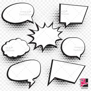 طرح وکتور سیاه و سفید گفتار و سخن