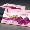 طرح کارت ویزیت لایه باز لوازم آرایشی بهداشتی