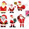 مجموعه تصاویر دوربری شده PNG بابانوئل