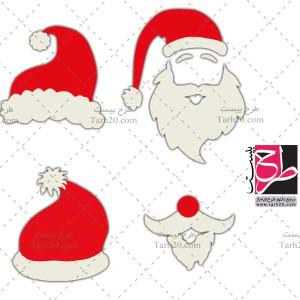 مجموعه تصاویر وکتور ریش و کلاه بابانوئل
