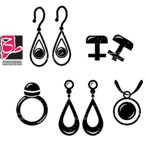 طرح لایه باز مجموعه وکتور های جواهرات