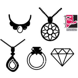 لایه بازمجموعه طرح های وکتور و آیکون جواهرات