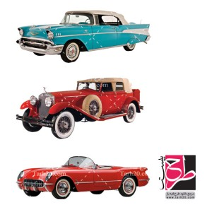 مجموعه تصاویر دوربری شده PNG خودروهای کلاسیک