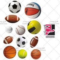 مجموعه تصاویر دوربری شده png توپ های ورزشی