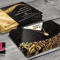طرح کارت ویزیت لایه باز طلا و جواهر فروشی