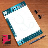 دانلود طرح لایه باز سربرگ شرکت تجهیزات پزشکی