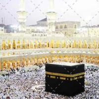 تصویر با کیفیت طواف مسلمانان در کعبه