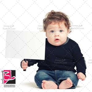 دانلود عکس نوزاد با پلاکارد