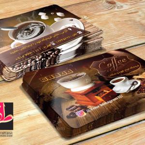 دانلود طرح لایه باز کارت ویزیت قهوه فروشی