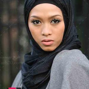 تصویر با کیفیت دختر با حجاب مسلمان