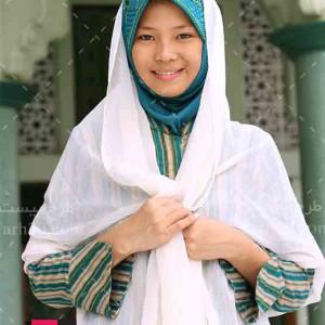 تصویر با کیفیت دختر بچه مسلمان با حجاب
