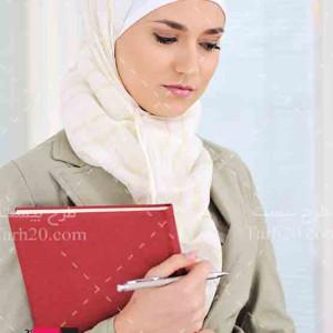 عکس با کیفیت دختر دانشجوی با حجاب