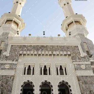 تصویر با کیفیت و نزدیک از منارهای مسجد