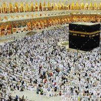 تصویر با کیفیت طواف کردن مسلمانان کنار کعبه