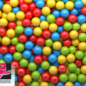 دانلود عکس با کیفیت توپ های رنگی کوچک