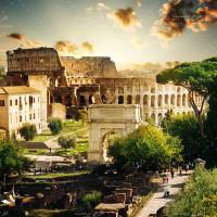 تصویر با کیفیت کولوسئوم تاریخی در ایتالیا