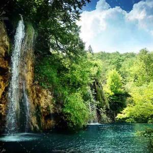 تصویر گردشگری با کیفیت از آبشار و طبیعت