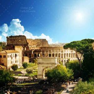 تصویر با کیفیت از کولوسئوم تاریخی در رم