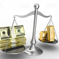 تصویر با کیفیت و استوک طلا و دلار