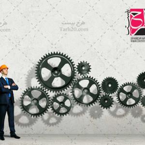 عکس با کیفیت مدیریت شغلی چرخ دنده ها و مدیر