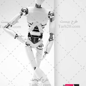 عکس با کیفیت ربات ایستاده انسان نما