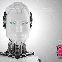 تصویر گرافیکی با کیفیت سر ربات انسان نما