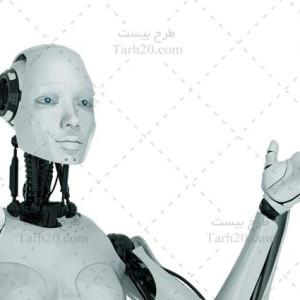 عکس با کیفیت ربات انسان نما در حال صحبت کردن
