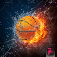 تصویر گرافیکی با کیفیت توپ بسکتبال