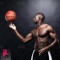 دانلود عکس استوک بسکتبالیست بازیکن ورزش بسکتبال
