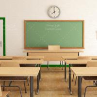 دانلود عکس استوک کلاس درس و چیدمان میز و صندلی