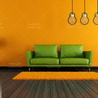 دانلود عکس با کیفیت دکوراسیون منزل با دیوار نارنجی