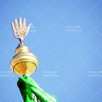 عکس با کیفیت محرم و پرچم امام حسین