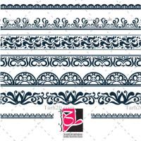 مجموعه طرح وکتور حاشیه و قاب ساده تک رنگ