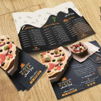 طرح بروشور لایه باز پیتزا فروشی ( سه لت )
