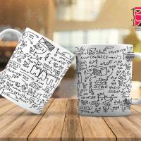 طرح فانتزی لیوان و ماگ ( معادلات ریاضی )
