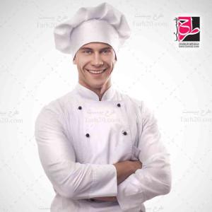 تصویر با کیفیت آشپز و سر آشپز رستوران