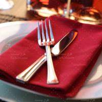 تصویر با کیفیت بشقاب رستوران