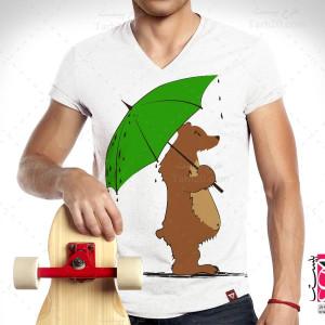 طرح تیشرت معروف خرس چتری