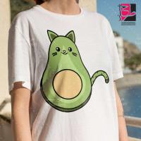 طرح تیشرت دخترانه گربه آواکادویی