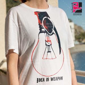 طرح تیشرت دخترانه لامپ هنری