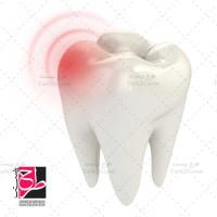 تصویر گرافیکی با کیفیت دندان درد