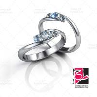 عکس با کیفیت انگشتر با نگین الماس