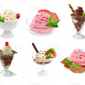 تصاویر با کیفیت و استوک انواع بستنی