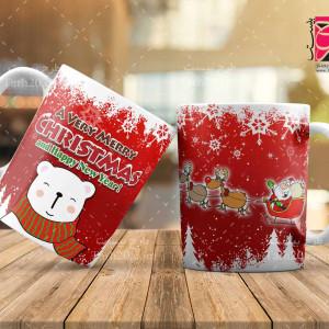 طرح ماگ و لیوان جشن کریسمس