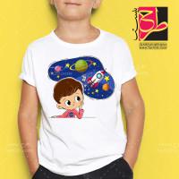 طرح تیشرت انیمیشن فضایی کودکان